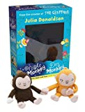 Julia Donaldson Night Monkey Day Monkey Books & Plush Set (Book & Toy)