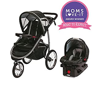 Graco Fastaction Fold Click Connect Jogger Travel System Stroller - Road Runner