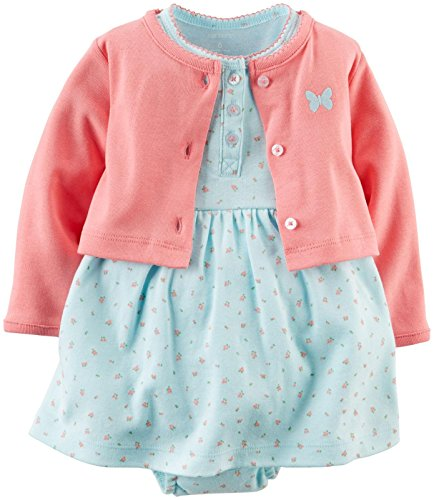 Carter's Baby Girls' 2 Piece Floral Dress Set (Baby) - Light Blue - Newborn