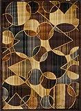 Home Dynamix Royalty 8100-530 Brown/Blue 3-Feet 7-Inch by 5-Feet 2-Feet Traditional Area Rug