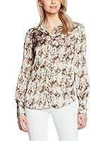 GAS Camisa Mujer Chertys (Marfil / Marrón)