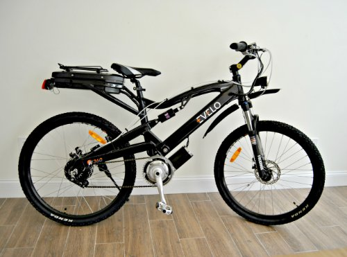Evelo - Aries Pro Model Electric Bicycle E-Bike - Black