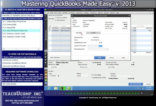 Learn Quickbooks Pro 2013 Basic And Advanced Expert Training