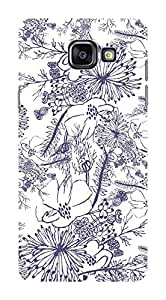 Koveru Designer Printed Protective Snap-On Durable Plastic Back Shell Case Cover for Samsung Galaxy A5 2016 - Flower Sketch Art