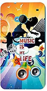 PRINTVISA Quotes Music Case Cover for HTC One M7