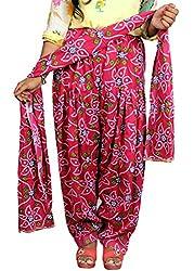 Tinnu G Women's Rayon Salwar and Dupatta Set (TGRPS1005_Pink_Free Size)