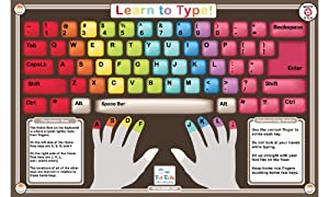 Amazon Com Tot Talk Learn To Type Placemat Toys Amp Games