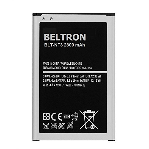 BELTRON New 3200 mAh Beltron Replacement Battery for Samsung Galaxy Note 3 III, (SM-N900 AT&T Sprint T-Mobile US Cellular Verizon N9000 N9005) B800BE B800BU B800BZ - BELTRON PACKAGED (Galaxy Note 3 At T compare prices)