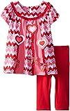 Bonnie Jean Little Girls Paneled Heart Applique Legging Set