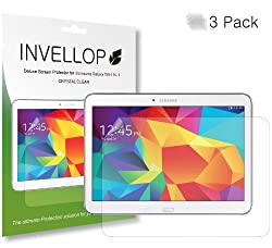 INVELLOP Samsung Galaxy TAB 4 10.1 Crystal Clear HD 3-pack Screen protectors 10inch tablet