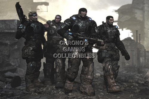 "CGC Poster grande, motivo Gears of War Delta Squad GAS004, XBOX 360, Carta, 24"" x 36"" (61cm x 91.5cm)"