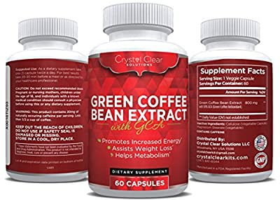 Green Coffee Bean Extract 800mg with GCA Natural Weight Loss Supplement, 60 Caps (60)
