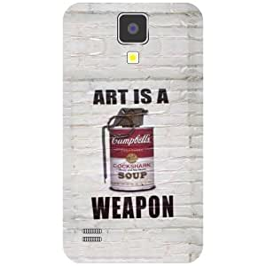Samsung I9500 Galaxy S4 Phone Cover -Art Is A Weapon Matte Finish Phone Cover