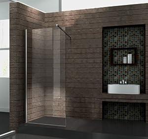 Walk In 10 mm Duschwand Duschabtrennung Duschkabine Dusche 90x200 cm AQUOS  BaumarktKundenbewertung und Beschreibung