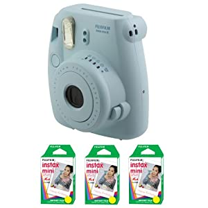 Fujifilm FU64-MINI8BLK60 INSTAX MINI 8 Camera and Film Kit with 60 Exposures (Blue)