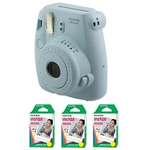 Fujifilm FU64-MINI8BLK60 INSTAX MINI 8 Camera and Film Kit with 60 Exposures (Blue)