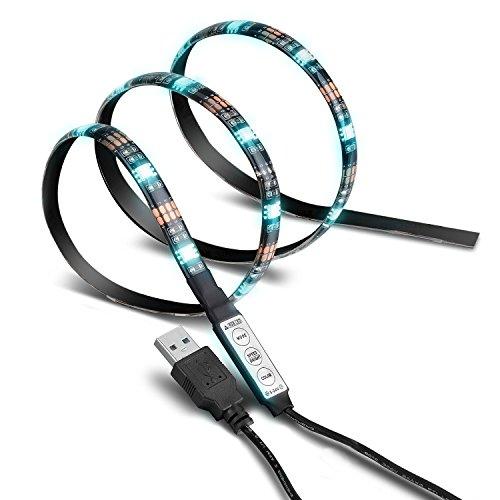 tira-led-de-victsing-con-8-colores-diferentes-y-usb-rgb-3m-300mp-ledstrip-retroiluminado-mando-a-dis