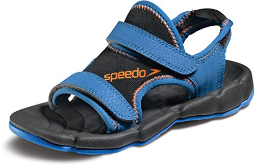 Speedo Grunion-Kids Water Sandal (Little Kid/Big Kid),Black/Bright Marigold,11 M US Little Kid