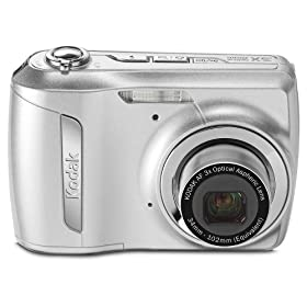 Kodak EasyShare C142 10MP Digital Camera with 3x Optical Zoom and 2.5 Inch LCD (Silver)