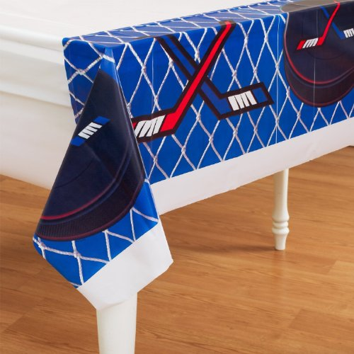 Hockey Plastic Tablecover Party Accessory