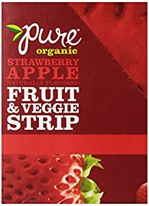 Pure Organic Fruit and Veggie Strip, Strawberry Apple, .49 Ounce (Pack of 24)