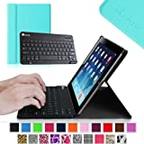 Fintie Blade X1 Keyboard Case for Apple iPad 4th Generation with Retina Display, iPad 3 & iPad 2 Ultra Slim SmartShell Stand Cover with Magnetically Detachable Wireless Bluetooth Keyboard - Blue
