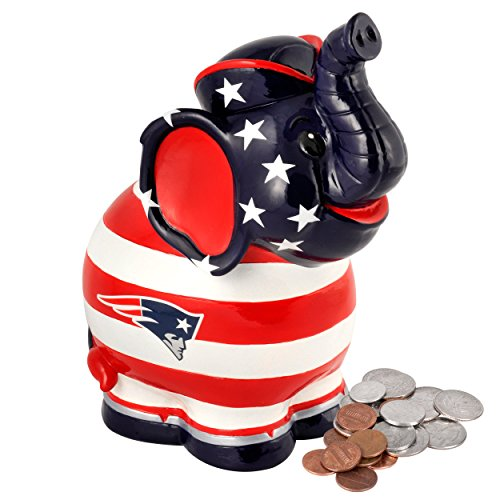 NFL New England Patriots Thematic Elephant Piggy Bank - 1