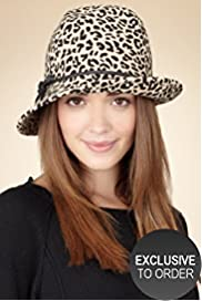 Twiggy for M&S Woman Pure Wool Leopard Print Trilby Hat