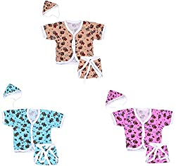 Dream Baby Hosiery Clothing Set - Pack of 3 (Multi-color, 0-3 Months)