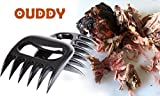 Ouddy Heat Resistant Meat Claws Meat Handler Forks Pork Claws Meat Shredder, Easily Transfer Meat and Shred Pulled Pork for BBQ Pulled Pork, Brisket or Any Slow Cooked Meat & Set of 2 Black