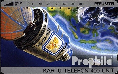 Indonesien 1070 400 Einheiten gebraucht Satellit (Telefonkarten für Sammler)