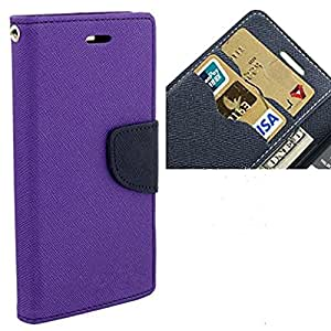Nosson Imported Fancy Wallet Dairy Flip Case Cover For Samsung Galaxy A5 2016 - (Purple)