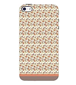 PrintDhaba Pattern D-1774 Back Case Cover for APPLE IPHONE 4 (Multi-Coloured)