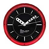 Water Resistant Wall Clock - Red - 810034r by Sper Scientific
