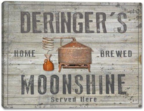 Deringer'S Home Brewed Moonshine Stretched Canvas Print