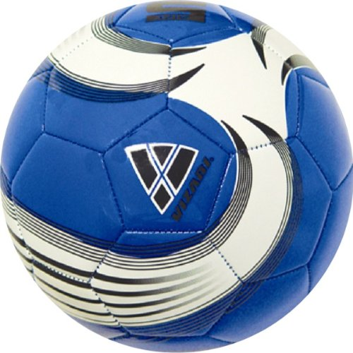 Vizari Astro Soccer Ball, Blue/White/Black, 4
