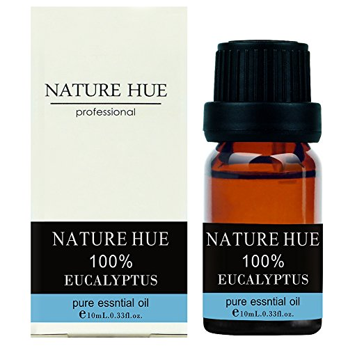 Nature Hue - Eucalyptus Essential Oil 10 ml, 100% Pure Therapeutic Grade, Undiluted