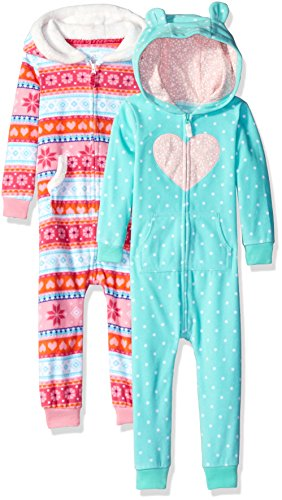 Carter's Baby One Piece Romper (2 Pack), Heart/Snowflake, 18 Months