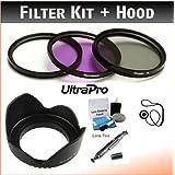 82mm PREMIUM Filter Kit (UV, CPL, FLD) & Digital Lens Hood Bundle For Digital Cameras. Bundle Includes: Lens Cleaning...