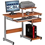 Techni Mobili Complete Media Computer Desk, Woodgrain, 38-Inch W by 22-Inch D by 35-Inch H