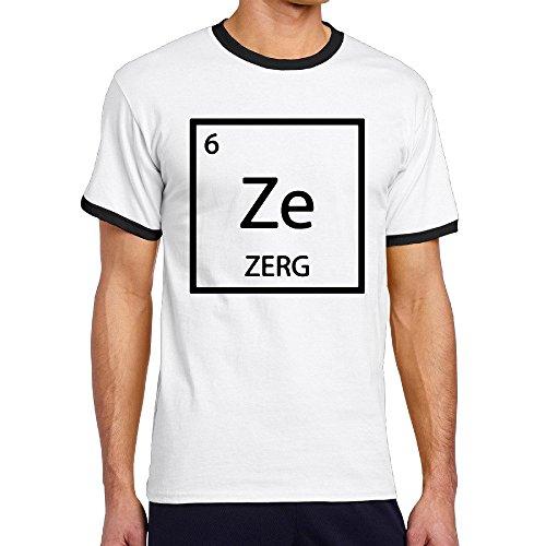 XJBD Geek Starcraft Game Ze Symbol Summer Stretchy 100% Cotton Runnin Black