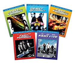 Fast and Furious 1-5 (Blu-ray + Digital Copy + UltraViolet)