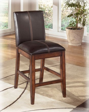 Compare Set Of Two Larchmont Dark Brown Bar Stools