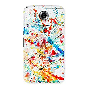 Delighted Paint Scribble Multicolor Back Case Cover for Nexsus 6