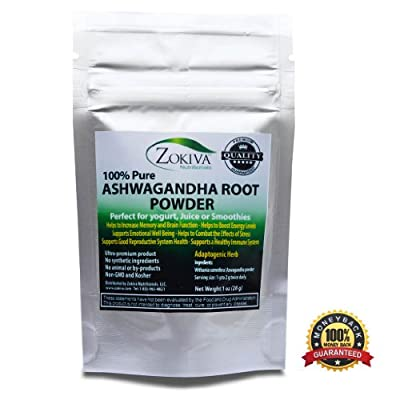 Ashwagandha Root Powder 1 oz (Withania Somnifera) Premium Quality 100% Pure