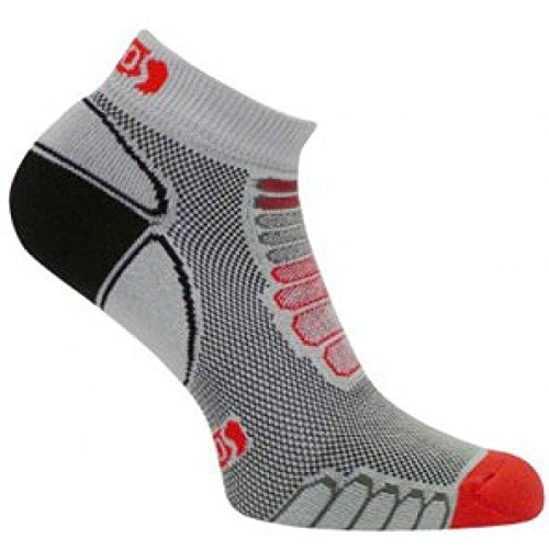 eurosocks-sprint-silver-running-low-cut-ultralight-weight-socks-with-plantar-compression-pair-grey-r