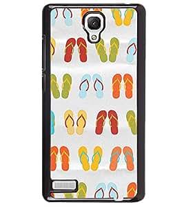 Printvisa Multicoloured Slippers Pattern Back Case Cover for Xiaomi Redmi Note::Xiaomi Redmi Note 4G