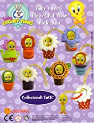 Baby Tweety Bird Charms Flower Pot Capsule Toys Set of 8