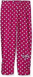US Polo Girls' Trousers (UTKP5024_Burgundy_M)