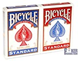 BICYCLE Blue & Red: 2 Jeux-Format : Poker-Index : 2/regular